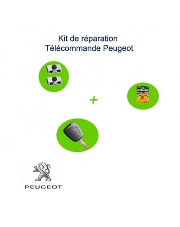 Kit réparation-télécommande-Peugeot